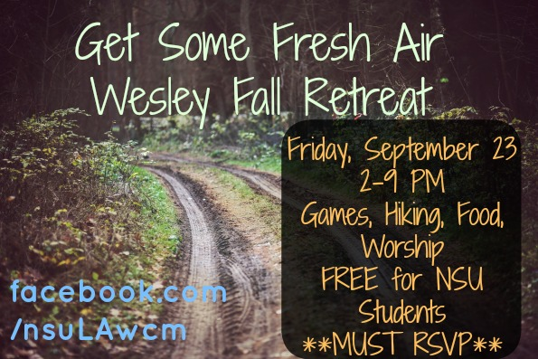 Wesley Fall Retreat 2